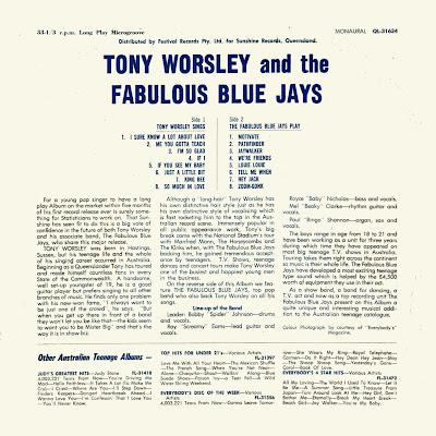 Tony Worsley & The Fabulous Blue Jays – Tony Worsley & The Fabulous Blue Jays (1965)