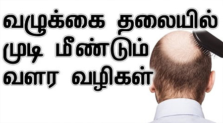 how to grow hair in bald head in tamil
