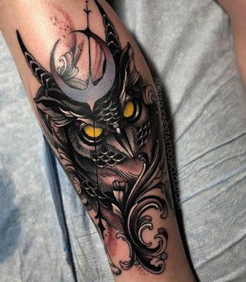 owl tattoo designs for girl