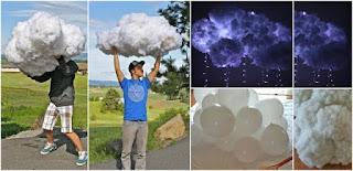 nubes hecho de globos