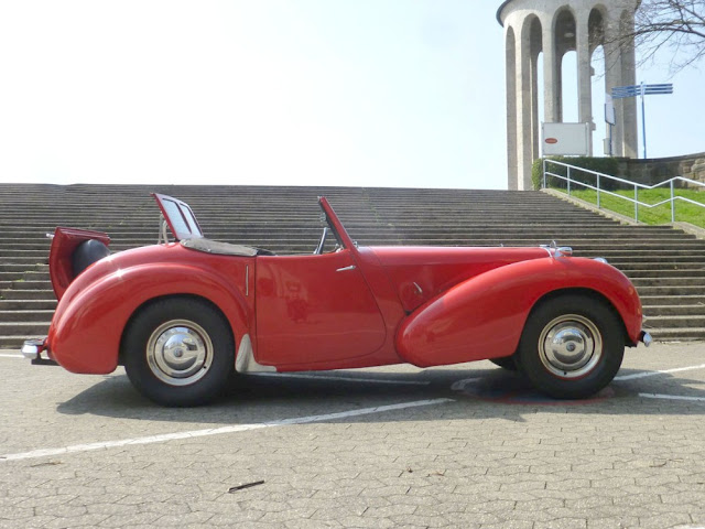 Triumph Roadster 1940s British classic sports car