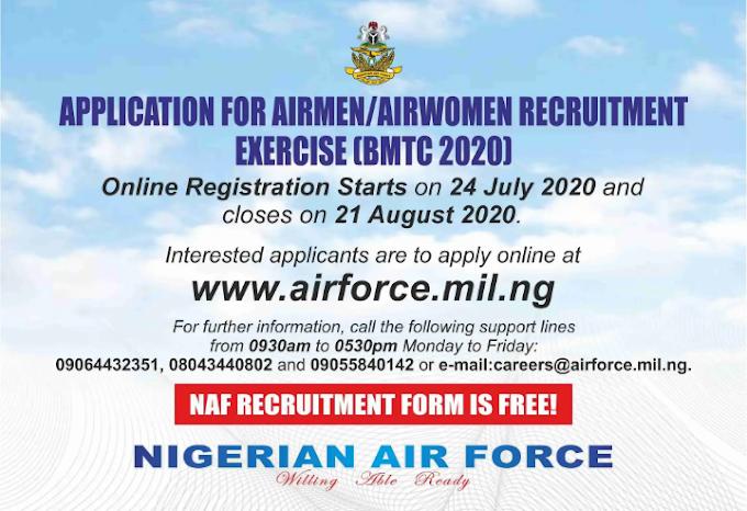 Yadda zaka nemi aikin SOJAN SAMAN NIGERIA (NIGERIAN AIR FORCE NAF)