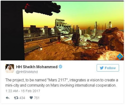 Uni Emirat Arab Akan Membangun Kota di Mars Tahun 2117