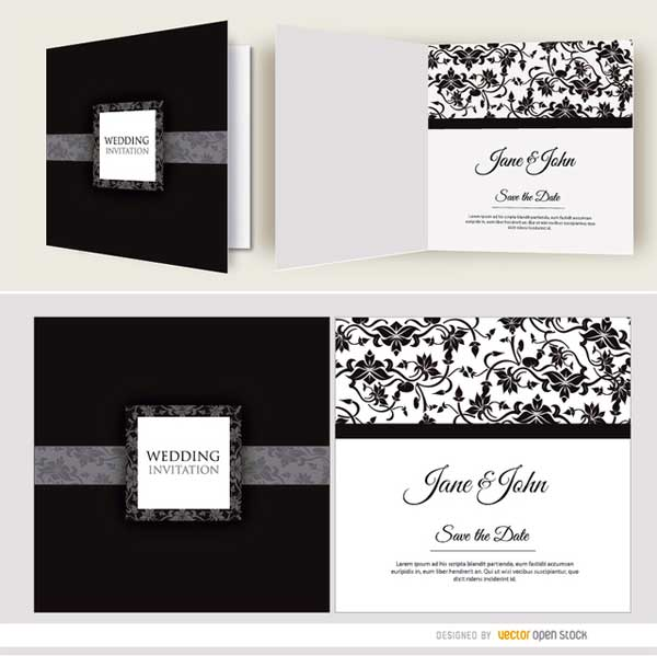 black-wedding-cards