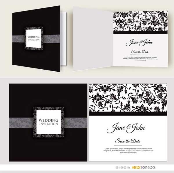 black-wedding-cards