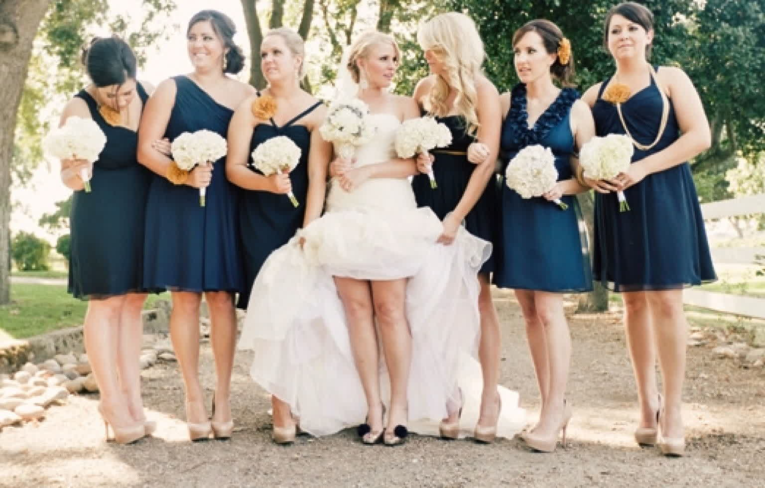 Bridal wedding on vogue blush wedding dress bridesmaids in navy blush wedding dress bridesmaids in navy ombrellifo Images