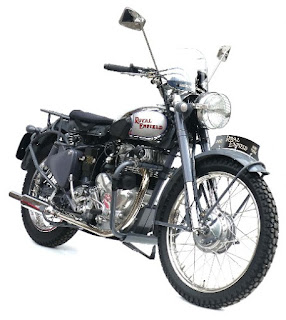Vintage Royal Enfield motorcycle.