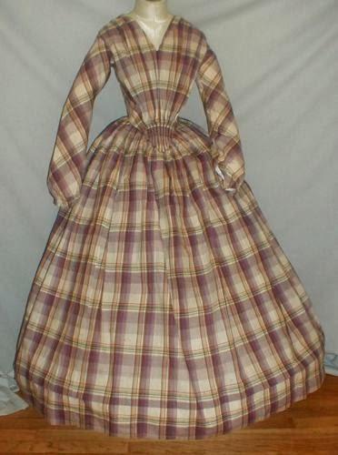 All The Pretty Dresses: Fabulous Plaid 1840's Dress