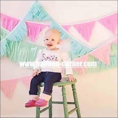 Tissue Paper Tassel Garland 3 Model