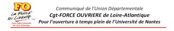 POUR L'OUVERTURE À TEMPS PLEIN DE L'UNIVERSITÉ DE NANTES