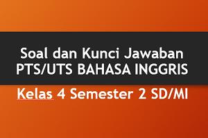 Soal dan Kunci Jawaban PTS/UTS BAHASA INGGRIS Kelas 4 Semester 2 SD/MI