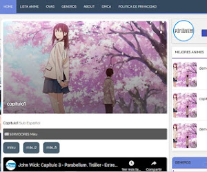 Hermosa plantilla de Anime para Blogger