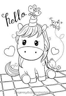 dibujos bonitos de unicornios para colorear