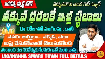 Jagananna Smart Towns -   జగనన్న  స్మార్ట్టౌన్ల గురించి పూర్తి వివరాలు...మార్గదర్శకాలు...అప్లికేషన్ ఫారం....