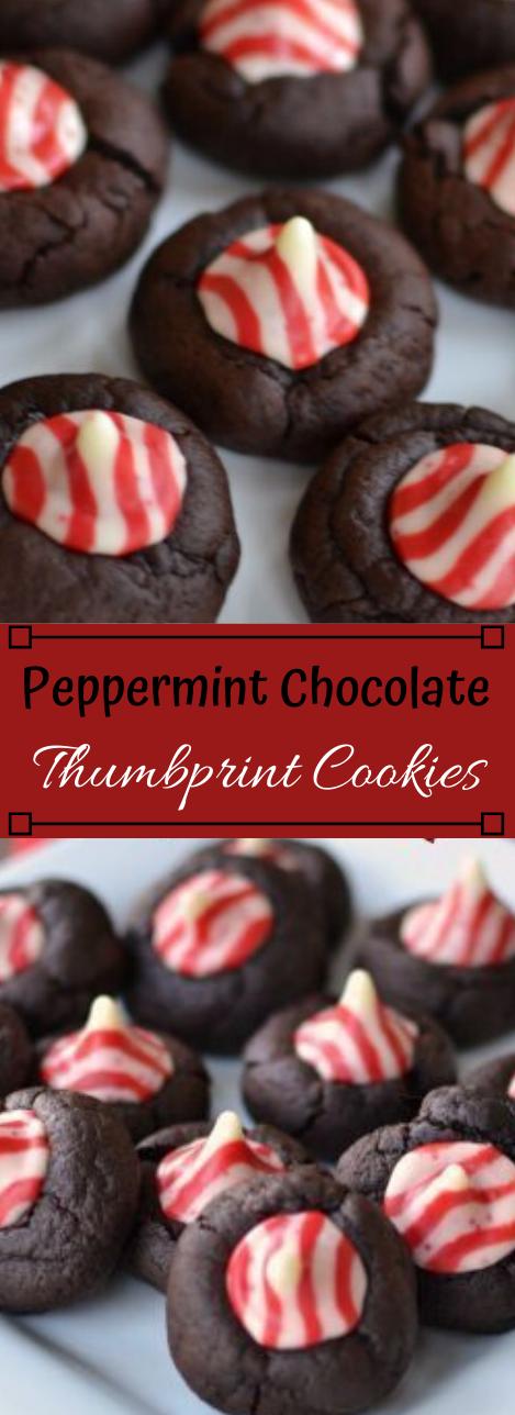 PEPPERMINT CHOCOLATE THUMBPRINT COOKIES #healthydiet #paleo #keto #food #chocolate