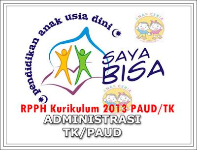 Contoh RPPH PAUD TK B Kurikulum 2013 Semester I dan II Semua Tema