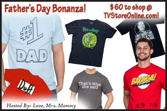 $60 Father's Day Bonanza Shopping Credit From TV Store Online!