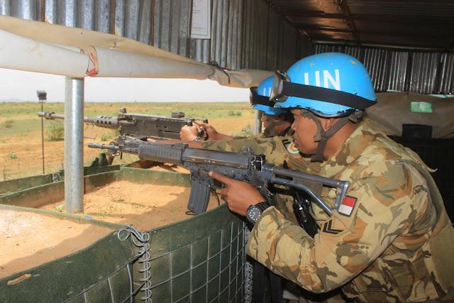 Observation Post Pasukan Garuda di Darfur Barat