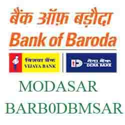 [BARB0DBMSAR] ~ New IFSC Code Dena Bank of  Baroda MODASAR