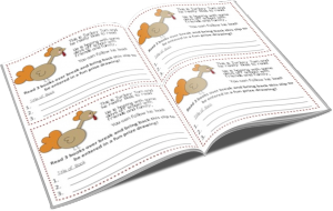 Want your own Turkey Tom Reading Over Break freebie?