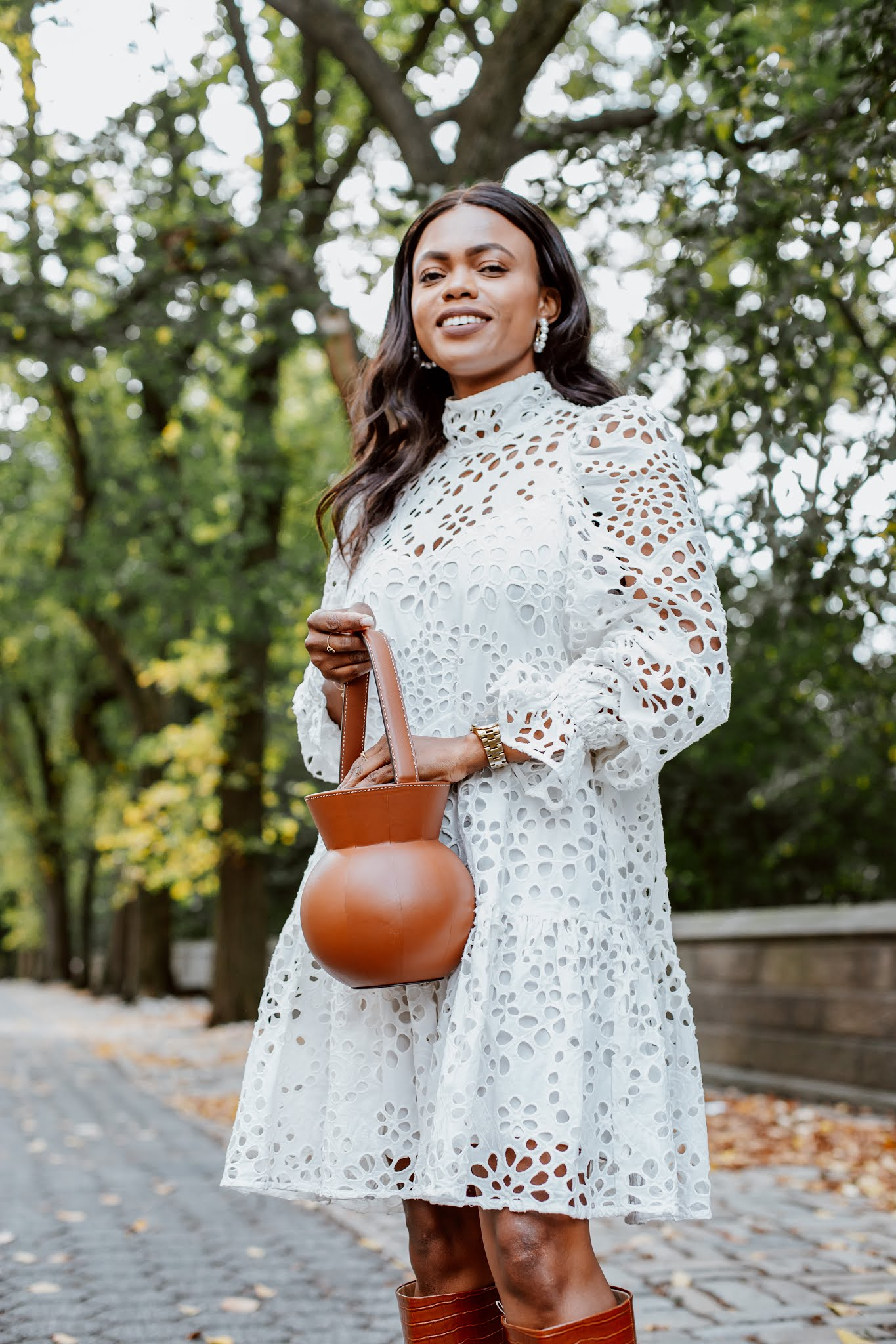 How to style white dresses for Fall