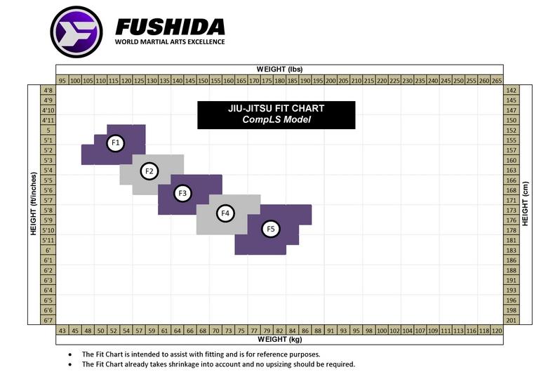 Fushida Women's Size Chart