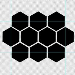 cara membuat pola sarang lebah