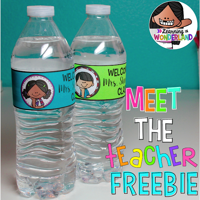 Pass out these cute bottles on Meet the Teacher Night! The labels are FREE!!