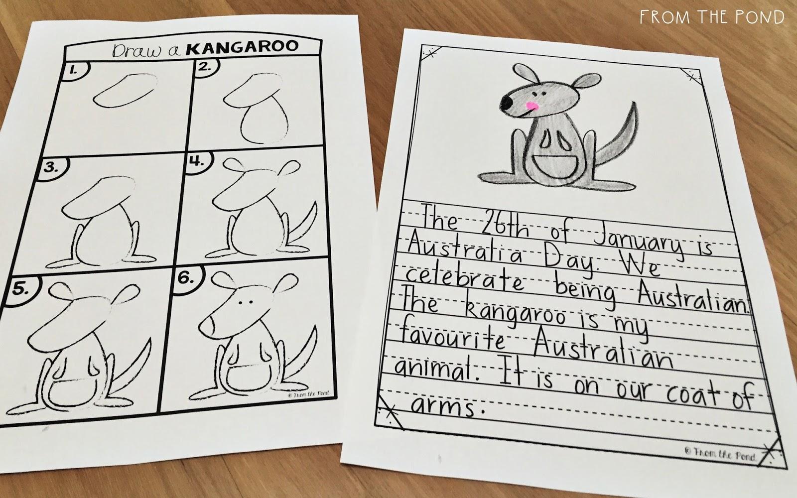 Kangaroo Directed Drawing