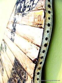 aged metal plumbing strap