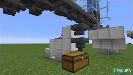 Minecraft 自動小麦農場に設置した自動仕分け機