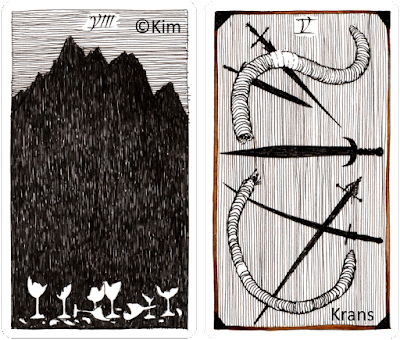 The Wild Unknown Tarot Eight of Cups Five of Swords Kim Krans daily draw blog blogger