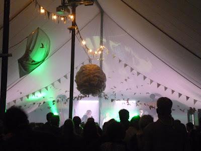 festival tent bunting music dancing