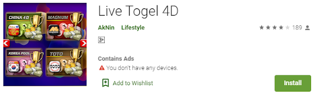 Aplikasi Live Togel 4D Untuk Semua Pasaran