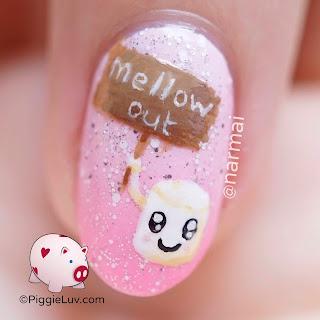 piggieluv kawaii marshmallows nail art