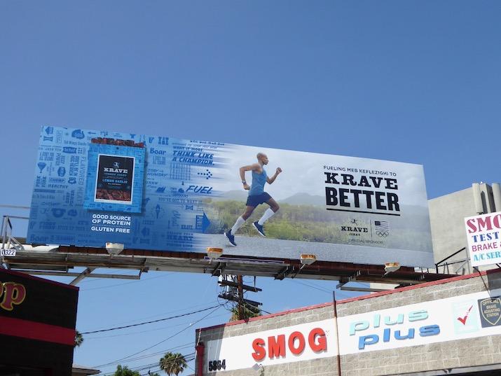 Krave Jerky Running Olympics 2016 billboard