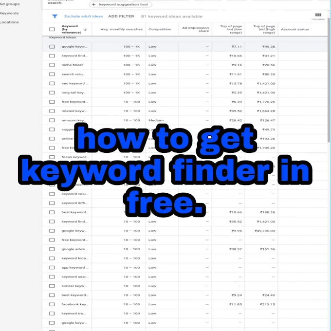 How to get keyword finder in free