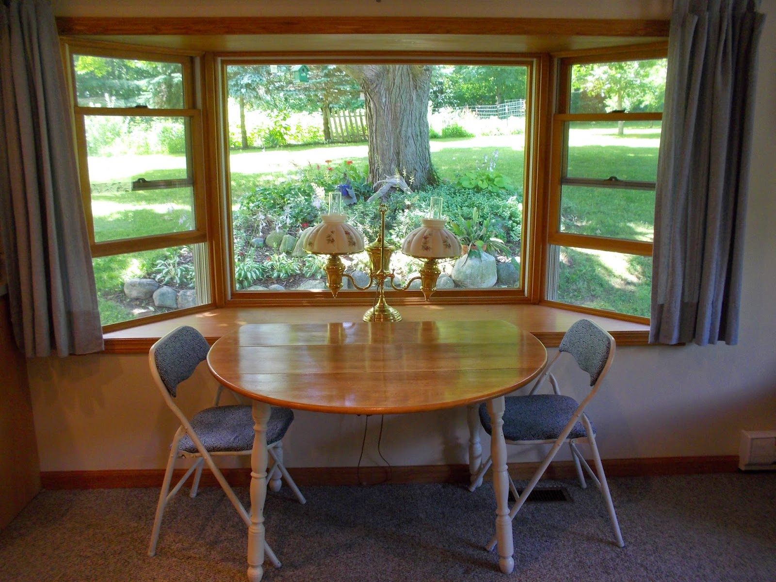 Enjoy the beautiful bay windows at The Hutch, a bed and breakfast in Hillsdale, MI.