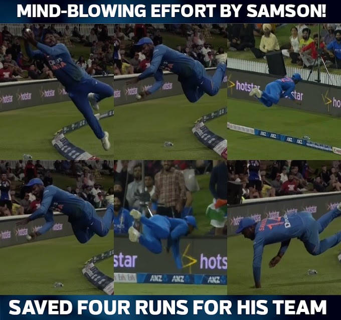 Mind Blowing Sanju Samson in Fielding