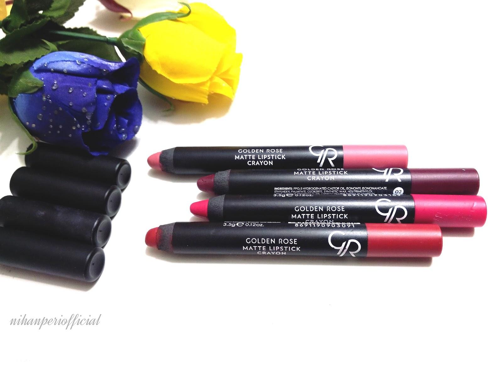 Nihanperi Golden Rose Matte Crayon Rujlari Hakkinda Deneyimler