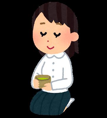 茶道部の学生のイラスト(女子)