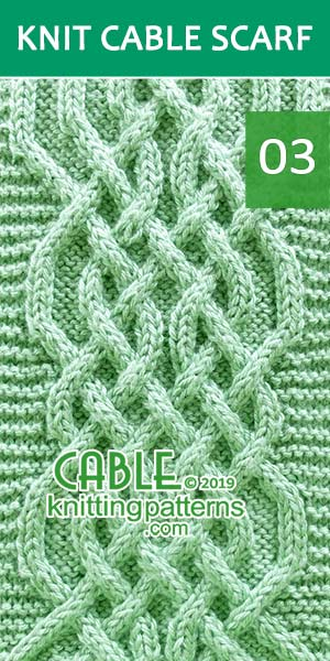 Celtic Weave Cable Scarf, Its Free. Skill level: Advanced knitter and up