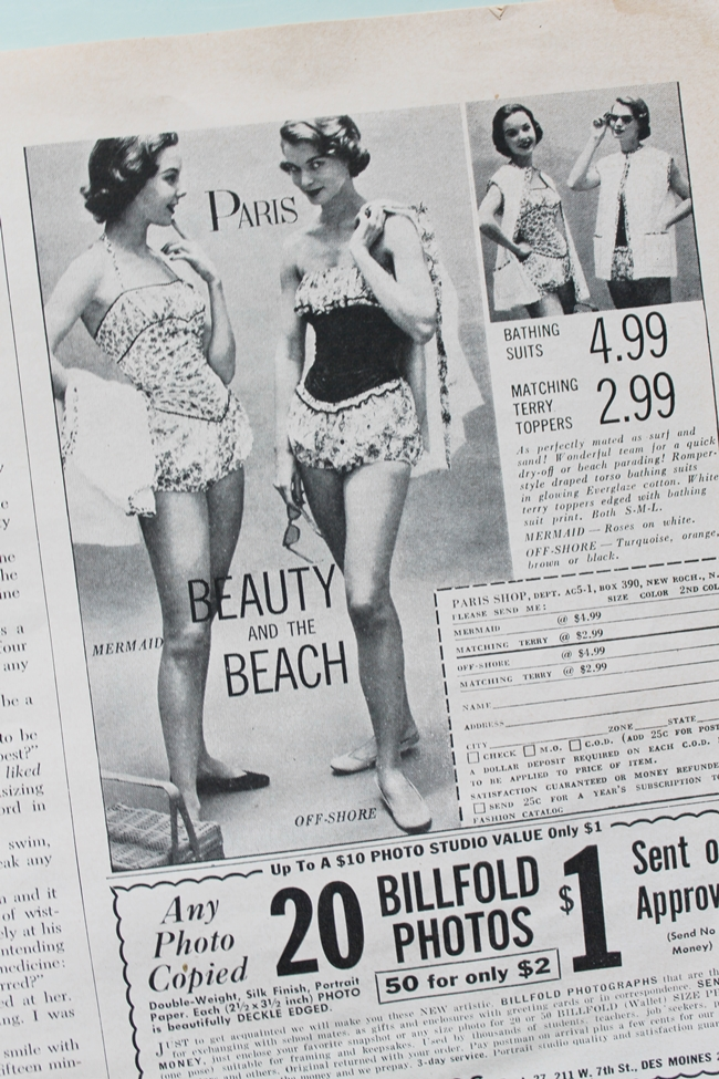 1950s teen swimsuit advertisement