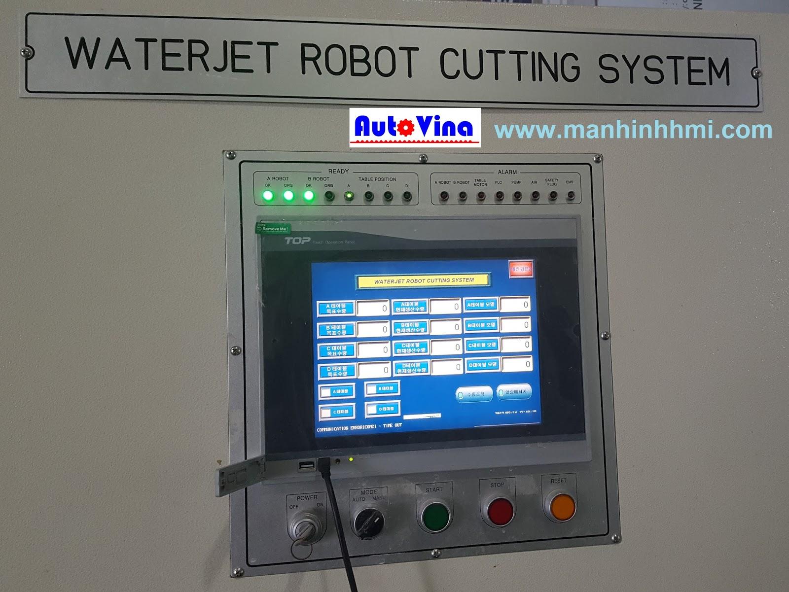 Hình ảnh màn hình cảm ứng M2I XTOP10TS-SA bị lỗi cảm ứng kém nhạy