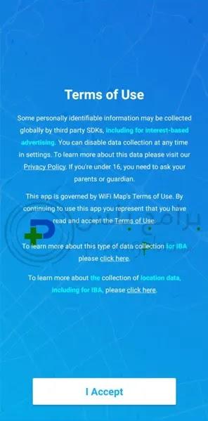 سياسة الخصوصية تطبيق WiFi Map
