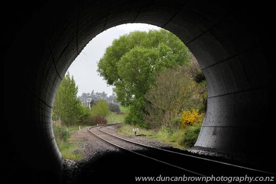 Light at the end of the tunnel in Central Hawke's Bay photograph