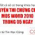 Khóa học luyện thi chứng chỉ MOS word 2010 trong 05 ngày