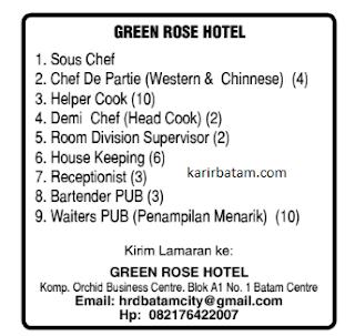 Lowongan Kerja Green Rose Hotel (1-7 Januari 2021)