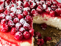 Classic Cheesecake with Raspberry Sauce Recipe