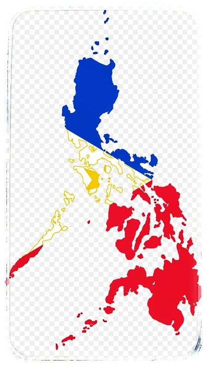 Map of the Philippines in Philippine Flag color